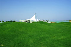 Seaside park. A view of a seaside park Stock Image