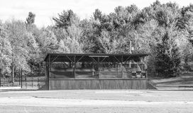 Seaside Park. This is view of the grandstand at seaside park in Marblehead, MA Royalty Free Stock Photos