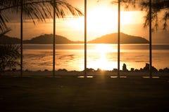 Seaside park at phuket thailand stock photos