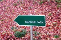 Seaside Park Sign Stock Photo