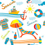 Seaside pattern Royalty Free Stock Photos