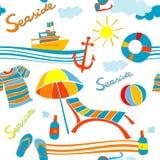 Seaside pattern Royalty Free Stock Photos