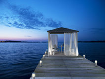 Seaside pavilion. 3D rendering showing a fictitious seaside pavilion Royalty Free Stock Image