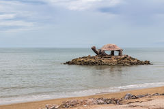 Seaside Pavilion turtle shape in the south of Thailand Royalty Free Stock Images