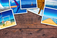 Seaside photo collage Royalty Free Stock Images