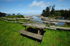 Seaside picnic site Royalty Free Stock Photography