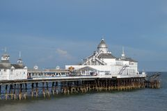 Seaside pier. Victorian jetty at Eastbourne on the south coast of England Royalty Free Stock Photography
