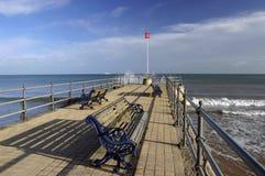 Seaside Pier. In winter, Swanage, Dorset Stock Image