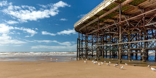 Beside the seaside, beside the pier Royalty Free Stock Photos