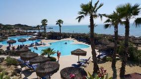 Seaside pool. In greece greek hotel Royalty Free Stock Image