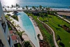 Seaside pool and resort Royalty Free Stock Photo