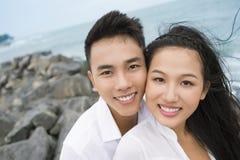 Seaside portrait royalty free stock image
