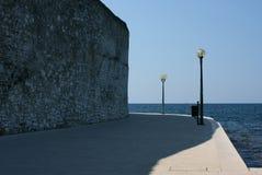 Seaside portwalk Stock Photography