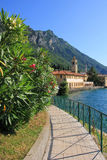 Seaside promenade of garda lake, gargnano village, italy Stock Photo