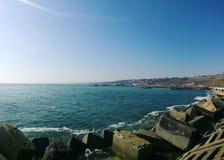 Seaside promenade. Gold coast. Royalty Free Stock Photo