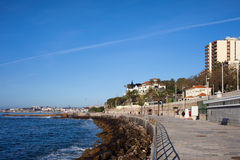 Seaside Promenade in Monte Estoril Royalty Free Stock Photos