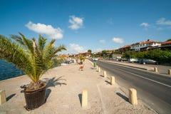 The seaside promenade in Nessebar, Bulgaria Royalty Free Stock Images