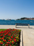 Seaside promenade - Porec, Croatia Stock Photo