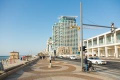 Seaside promenade in Tel Aviv, Israel Royalty Free Stock Photos