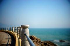 Seaside railing Royalty Free Stock Photography