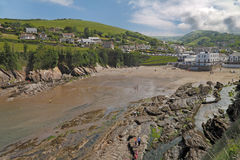 Seaside Resort. Combe Martin is a small seaside resort on the North Devon coast in England Stock Image