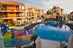 Seaside resort royalty free stock photo