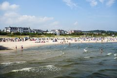 Seaside resort at Baltic Coast Stock Photography
