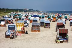 Seaside resort at Baltic Coast Royalty Free Stock Photography