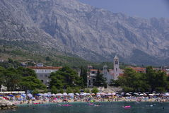 Seaside resort Baska Voda, Croatia Stock Photos