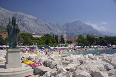 Seaside resort Baska Voda, Croatia Royalty Free Stock Photo