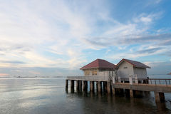 Seaside resort in the evening. Royalty Free Stock Photos