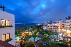 Seaside resort in Hainan Sanya, China Royalty Free Stock Photos