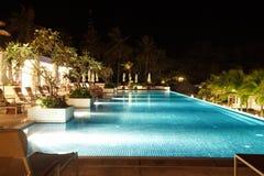 Seaside resort at night Royalty Free Stock Photography