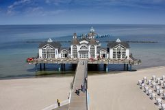 Seaside Resort Sellin. The Seebruecke tourist highlight at the seaside resort Sellin, isle of Ruegen Stock Image