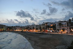 Seaside resort Sitges on Costa Dorada, Spain Royalty Free Stock Images