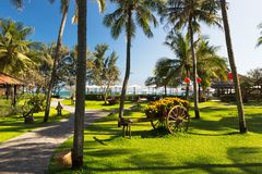 Seaside resort at a sunny day, Phan Thiet, Vietnam Royalty Free Stock Photos