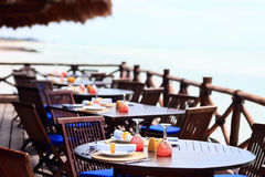 Seaside restaurant Royalty Free Stock Photo