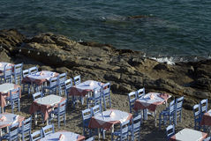 Seaside restaurant stock photography