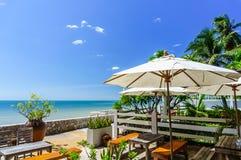 Seaside restaurant Royalty Free Stock Images