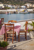 Seaside restaurant Crete Stock Images