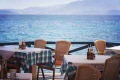Seaside restaurant Royalty Free Stock Photo