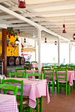 Seaside restaurant Royalty Free Stock Image