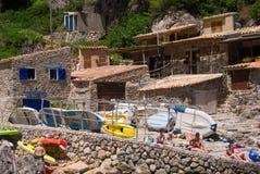 Seaside restaurant in Mallorca, Spain Royalty Free Stock Photos