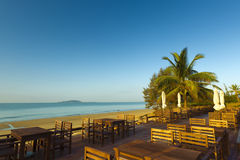Seaside restaurant sanya china Stock Image