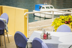 Seaside restaurant. Stock Photography