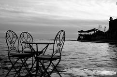 Seaside restaurant. Royalty Free Stock Image