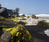 Seaside on reunion island. This is a  beach, at reunion island , water, tourism, sun, sea Royalty Free Stock Image