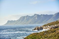 Seaside Road At Sunset Boland Mountain Complex, Western Cape Stock Image
