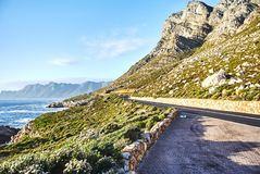 Seaside Road At Sunset Boland Mountain Complex, Western Cape Royalty Free Stock Photo