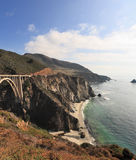 Seaside road on the Pacific coast. A great viaduct. Seaside road on the Pacific coast. California, USA Stock Photos